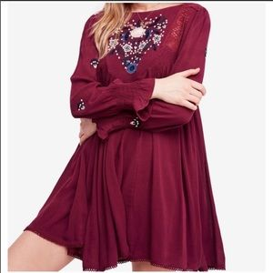 Free People Moya Embroidered Dress S